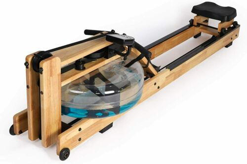 Koreyosh Water Rowing Machine with Water Resistance Adjustable LCD Monitor