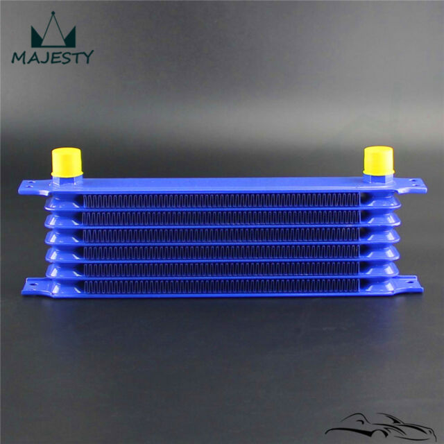High Performance Engine Oil Cooler 7 Row 340 x 90 x 50 -10AN Fittings Blue