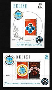 Belize-538-544-PLUS-545-amp-546-MATCHING-NUMBERED-S-S-034-ROTARY-CLUB-034-CV-125