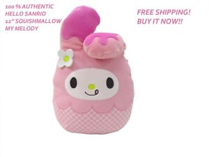 """SQUISHMALLOW SANRIO HELLO KITTY MY MELODY NEW 5/"""" FREE SHIPPING IN STOCK"""