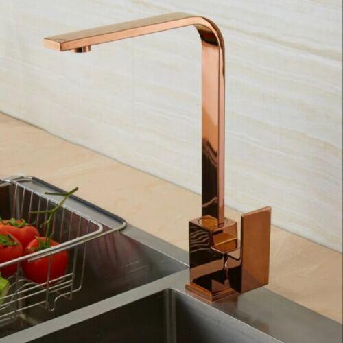 Rose Gold Modern Kitchen Mixer Tap Faucet Basin Sink Swivel spout 360` 197
