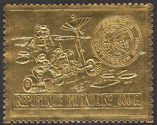 RWANDA: 1972  Apollo 15  600F embossed on gold foil-SG 442 unm. mint