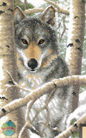 Cross Stitch Kit Dimensions Noble & Powerful Gray Wintry Wolf 3228