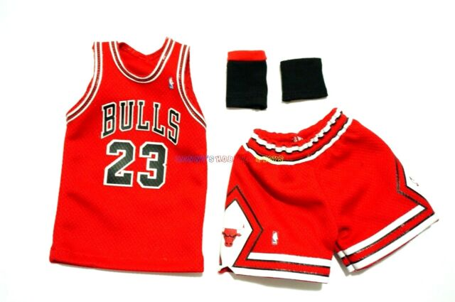 hot sale online fd106 b8e63 1/6 NBA Chicago Bulls 23 Michael Jordan Away Jersey Red for Enterbay Figures
