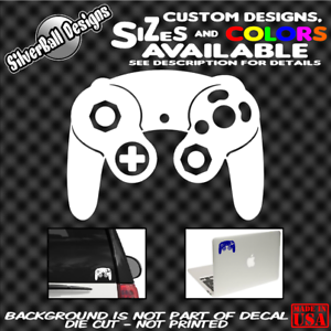 Nintendo-GameCube-Controller-Custom-Vinyl-sticker-Car-Window-Mario-Laptop-Wii-GC