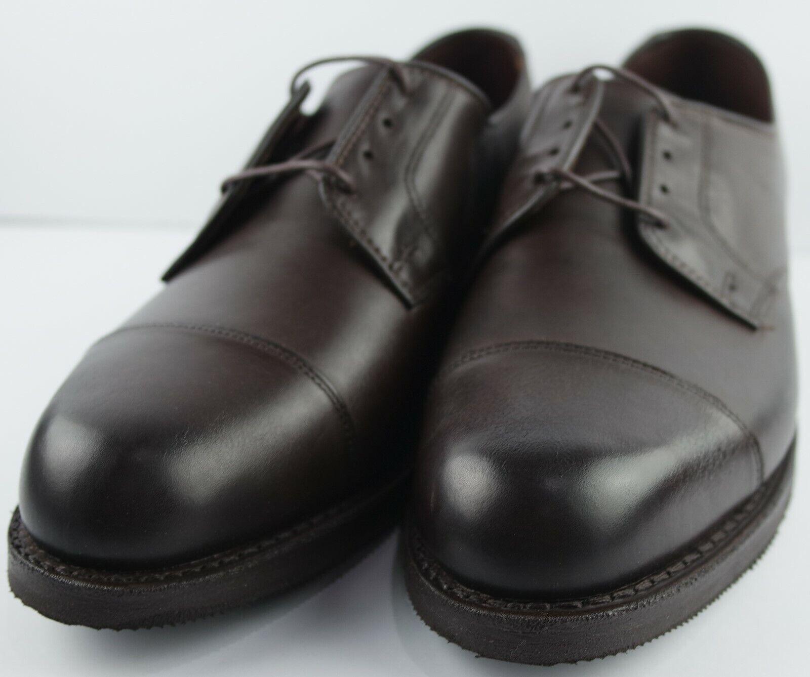 Allen Edmonds Men's ROAD WARIORS Dark  Marronee Cap Toe Oxfords Dimensione 9 D  a buon mercato