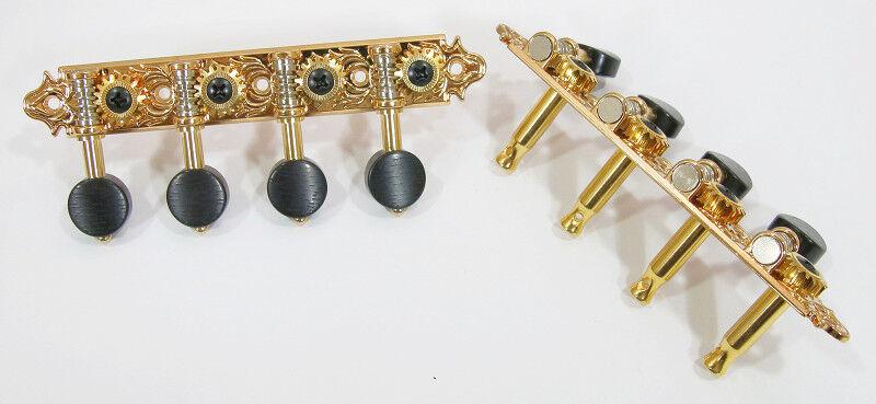 Un Estilo Chapado en en en oro Cabeza de máquina de mandolina Mandola Sintonizadores Clavija 536G a01f5a