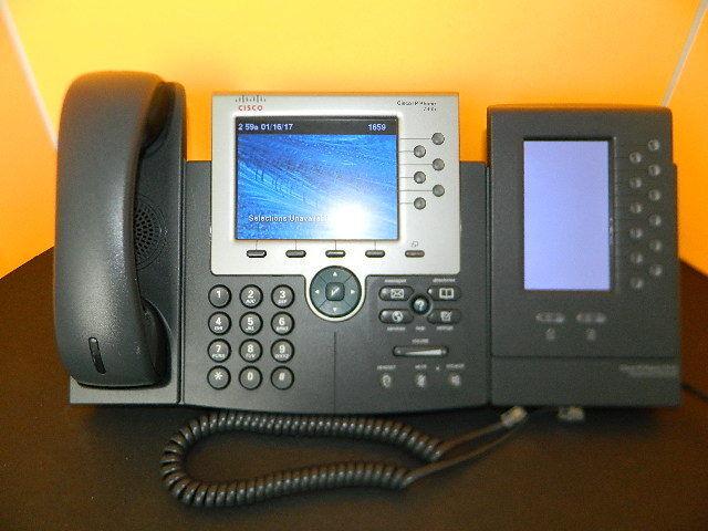 CISCO CP-7965 UNIFIED Téléphone IP Combiné avec CP-7916 Module d'extension