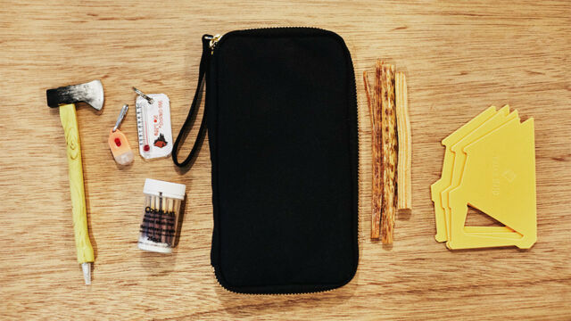 HOBONICHI TECHO 2018 Small Drawer Pouch Black from Japan
