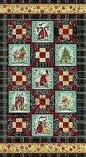 Once Upon a Christmas Panel  Holiday Fabric Benartex Santa Claus BFab