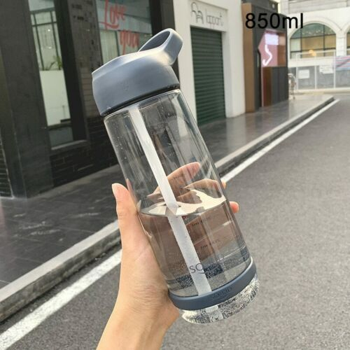 Water Bottle with Straw Plastic BPA Free Leakproof Sports Drinks Mugs Portable