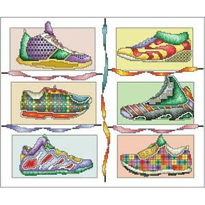 Vickery Collection Snazzy Sneakers Counted Cross Stitch Kit - NEW