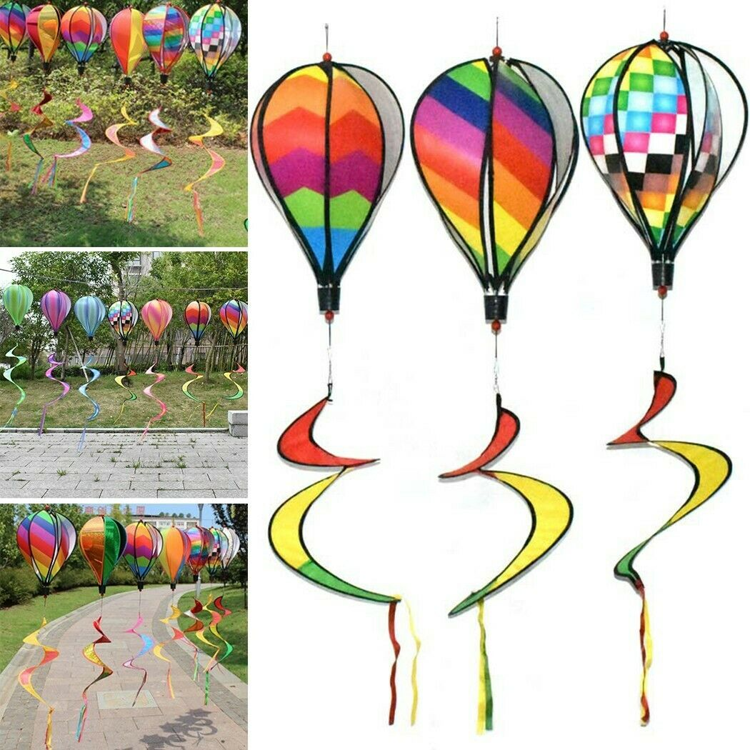 *Hot Air Balloon Toy Windmill Spinner Garden Lawn Yard Ornament Outdoor Party 1*