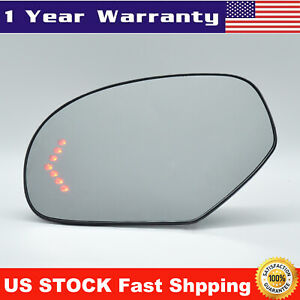 Mirror Glass Heated 7 LED Turn Signal Right RH for Cadillac Chevy GMC Pickup SUV