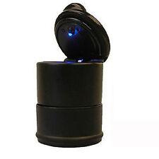 Universal Auto Aschenbecher,Kippentöter mit Blauer LED Beleuchtung, Schwarz