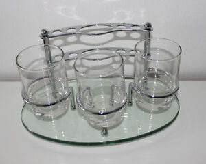 Argent Crystal Zahnputzbecher Set Aus Glas Und Chrome Accessoire