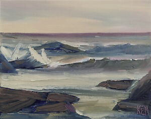 GRAY-SKIES-TWO-Original-Expression-Seascape-Surf-Ocean-Painting-8x10-031019-KEN