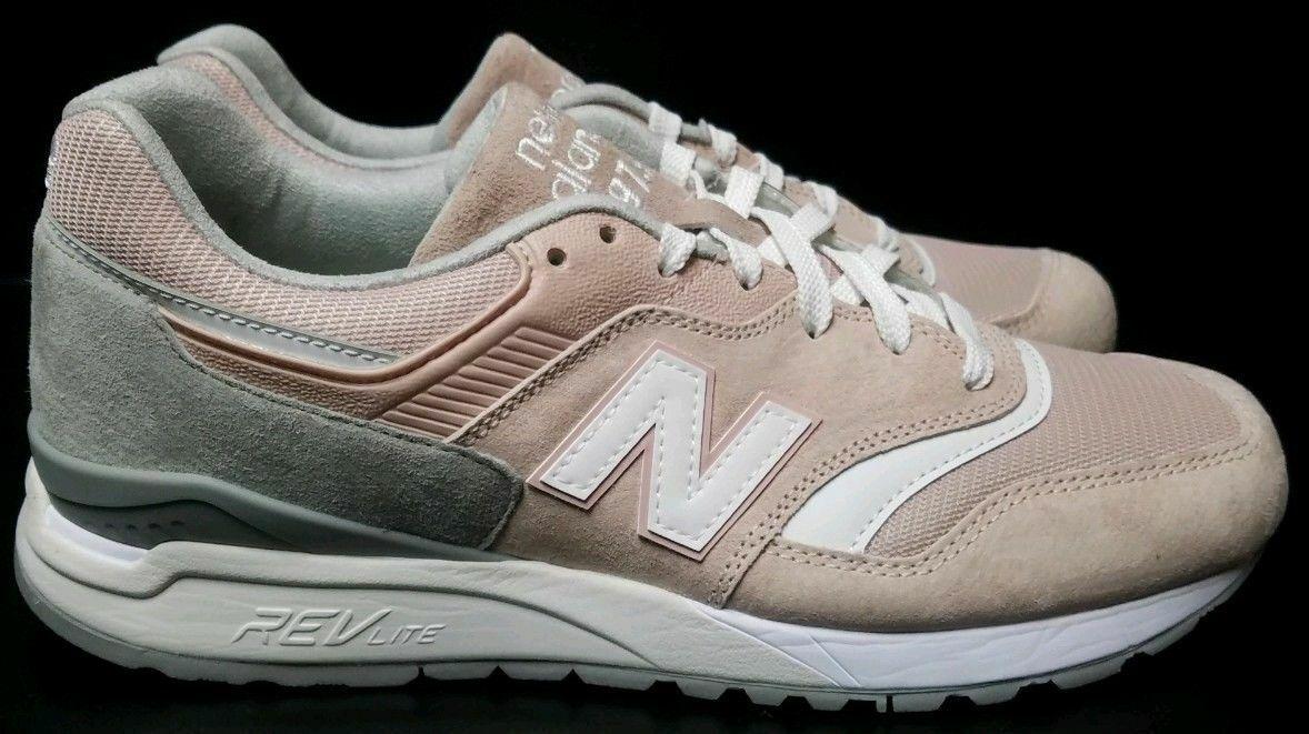 New Balance 997.5 Retro Suede Light Tan Pink White Shoes ML997HAD SZ 5 EU 37.5