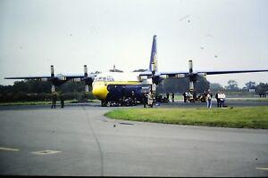 4-498-2-Lockheed-C-130T-Hercules-Blue-Angels-034-Fat-Albert-034-Kodachrome-SLIDE