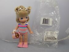 2007AUGUST Precious Moments MONTHLY MOMENT Vinyl Doll Swim Suit Flippers
