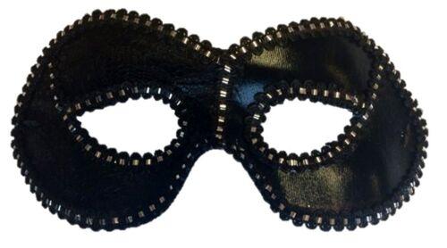 Black Half Eye Fancy Mask Mardi Gras Masquerade Costume Accessory Lace Silver