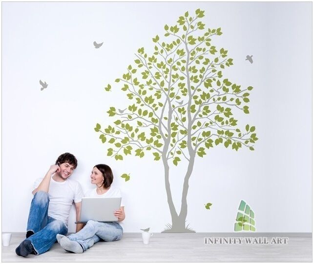Bird Tree  s Fenêtre Fenêtre s Autocollants Muraux, Arbre Wall Decal Stickers, Wall Decals/- PD504 77ce7e