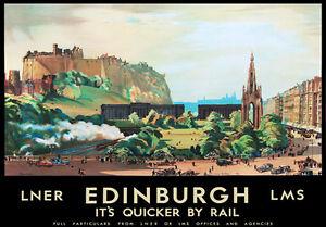 TU73 Vintage Berwick Upon Tweed LNER Railway Travel Poster Re-Print A4