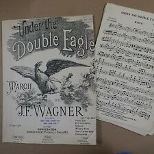 orchestra parts UNDER THE DOUBLE EAGLE j f wagner