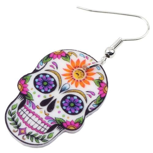 Acrylique Halloween Squelette Crâne Boucles D/'oreilles Festival Bijoux pour Femmes Cadeau Charms