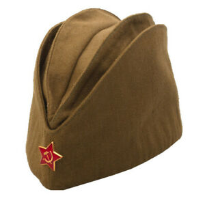 ad85c13bf Details about PILOTKA SOVIET ARMY GARRISON CAP WITH A RED ASTERISK SOVIET  SOLDIER RUSSIAN USSR