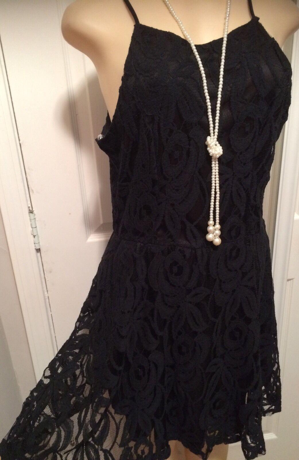 Great Womens Plus Dress 1x New Black Lace Xl 14 16 Cute