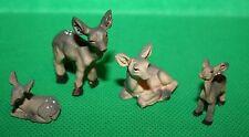 Tierfiguren Rehe 4erSet Krippenzubehör Dekoration 1,9 cm - 3,7 cm h Polyresin