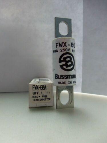 New Cooper Bussmann FWX-60A 60 Amp Semiconductor Fuse 250V ac//dc NIB