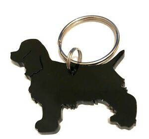 Cocker-Spaniel-Cocker-Dog-keyring-Keychain-Bag-Charm-Gift-In-Black