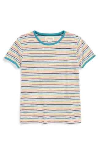 Johnnie B boys retro stripe tee tshirt top age 3-4 Mini Boden 15-16