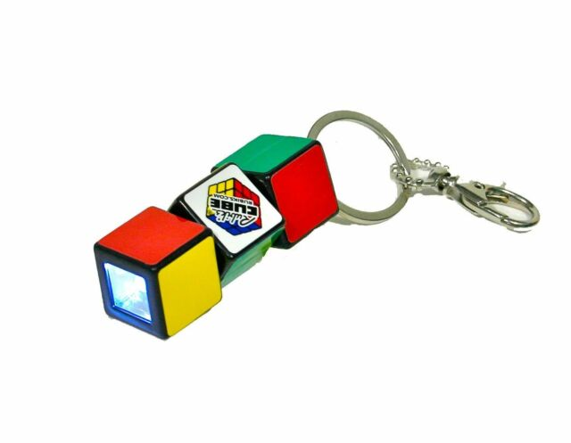Rubik's Cube Mini Flashlight Keychain - Clearance