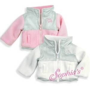 "For 18/"" American Girl White Fleece Heart Logo Jacket Doll Clothes"
