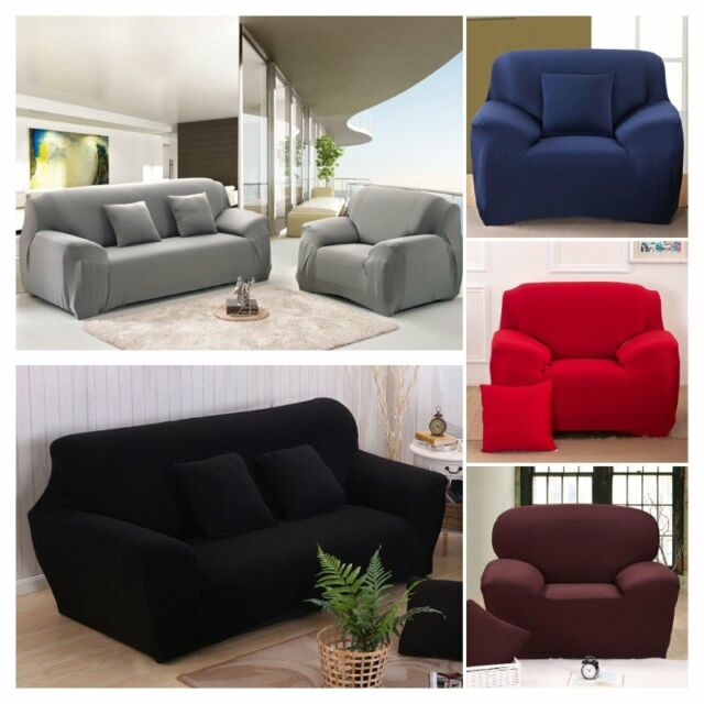 Incredible 1 4 Seater Stretch Elastic Fabric Sofa Protector Couch Cover Slipcover Dustproof Frankydiablos Diy Chair Ideas Frankydiabloscom