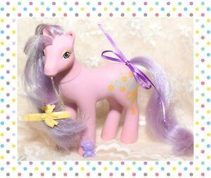❤️My Little Pony MLP G1 Vtg 1988 Sweetheart Sister Spring Song Lavender Flower❤️
