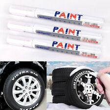 Universal 12 Pcs White Waterproof Car SUV Motorcycle Tyre Tread Marker Paint Pen