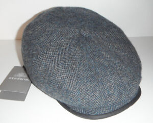 Stetson Europe Flat Cap Herringbone Newsboy The Oregon Wool Cap M 57cm 7 1//8