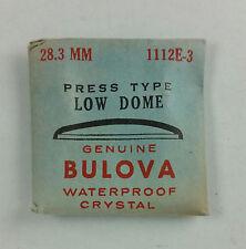VINTAGE BULOVA PRESS TYPE LOW DOME WATCH CRYSTAL - 28.3mm - PART# 1112E-3