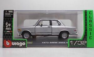 1972 Tii Silver Burago 132 Scale 1843202 1:32 2002 Bmw