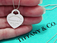 Tiffany & Co Sterling Silver Return To Tiffany Heart Tag Medium Charm Necklace