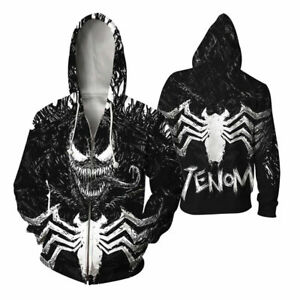2019-Spider-Man-Venom-Hoodie-Full-Zip-Jacket-Sweatshirt-Men-Women-Outerwear-Tops