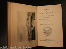 1837 1st History of Nova Scotia Canada Sable Prince Edward Island Newfoundland