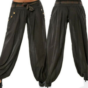 0cb5c5d67a Women Baggy Harem Pants Yoga Gym Dance/Hippie Boho Gypsy Loose ...