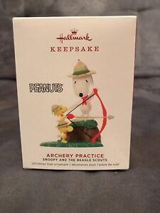 2019-Hallmark-Keepsake-Peanuts-Archery-Practice-Snoopy-amp-Beagle-Scouts-Ornament