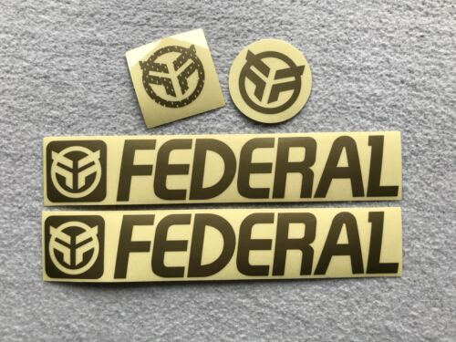 NEW 4 x Federal Bikes GOLD BMX Stickers Frame Forks Bars Sticker Decals Decal