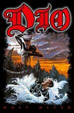 """DIO / RONNIE JAMES DIO FLAGGE / FAHNE """"HOLY DIVER"""" - POSTERFLAG"""